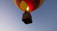 Hot air balloon overhead just before landing Stock Footage