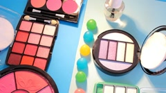 Stock Video Footage of Turning Table - Cosmetics - Bright Colours 07