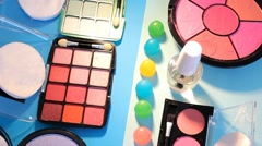 Turning Table - Cosmetics - Bright Colours 03 - stock footage