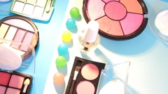 Turning Table - Cosmetics - Bright Colours 02 - stock footage