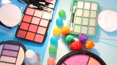 Turning Table - Cosmetics - Candy Balls 02 - stock footage