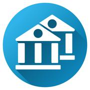 Stock Illustration of Banks Gradient Round Vector Icon