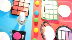 Turning Table - Cosmetics - Makeup 01 - stock footage