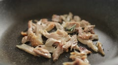 Cooking Chicken, Adding Rosemary Stock Footage