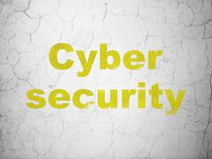 Privacy concept: Cyber Security on wall background Piirros