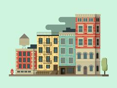 New york city building Stock Illustration