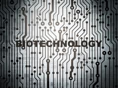 Science concept: circuit board with Biotechnology - stock illustration