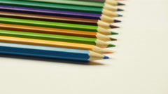 Taking colored pencil Stock Footage