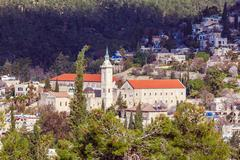 Catholic convent, Ein Kerem, Jerusalem - stock photo