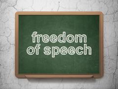 Politics concept: Freedom Of Speech on chalkboard background - stock illustration
