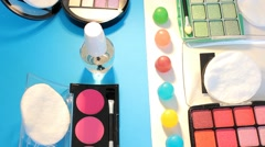 Turning Table - Cosmetics - Palette 03 - stock footage