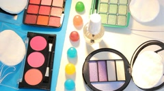Turning Table - Cosmetics - Palette 04 - stock footage
