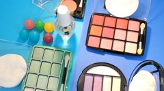 Turning Table - Cosmetics - Palette 07 Stock Footage