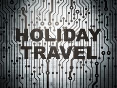 Vacation concept: circuit board with Holiday Travel Piirros
