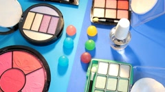 Turning Table - Cosmetics - Painting palette 02 - stock footage
