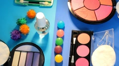 Turning Table - Cosmetics - Painting palette 06 - stock footage