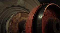 Gear industrial machine running Stock Footage