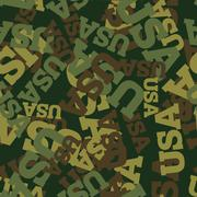 Military camouflage USA. American Protective seamless pattern. Army soldier t - stock illustration