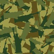 Statue of Liberty Military camouflage. American National Security seamless pa Stock Illustration