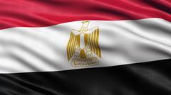 Flag of Egypt Stock Illustration