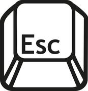 Escape button key - stock illustration