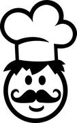 Stock Illustration of Chef Cook Smiley with Chef's Hat