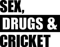 Sex Drugs Cricket - stock illustration