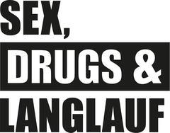 Sex drugs cross country ski Stock Illustration