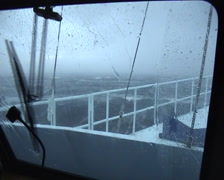 Ocean scenery extreme weather, storm, 40-70 Knot winds, sea spray, waves, on Stock Footage