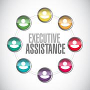 Stock Illustration of executive assistance people network sign concept