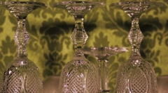 Glass with camera moving and professional light Stock Footage