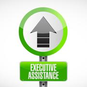 Executive assistance road sign concept Piirros
