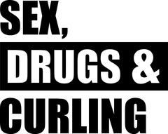 Sex Drugs Curling - stock illustration