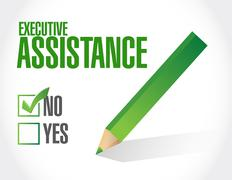 No executive assistance approval sign concept Stock Illustration