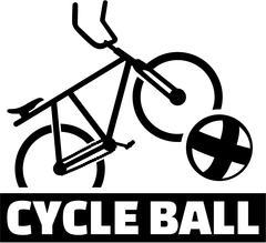 Cycle ball bike ball and sports name - stock illustration