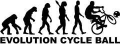 Evolution Cycle ball - stock illustration