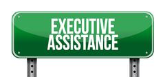 Executive assistance street sign concept Stock Illustration
