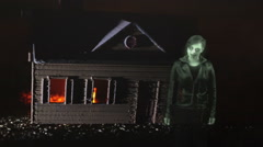 ghost at haunted house ghostly spooky - stock footage