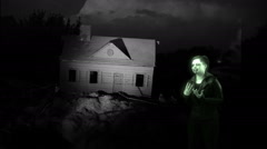 ghost in haunted house ghostly - stock footage
