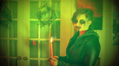halloween haunted haunt spooky creepy - stock footage