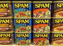 Cans of Spam - stock photo