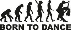 Born to dance evolution - stock illustration