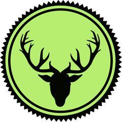 Deer Head Emblem - stock illustration
