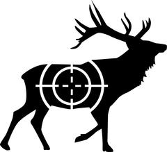 Deer hunting - stock illustration