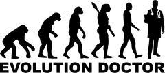 Doctor Evolution Stock Illustration