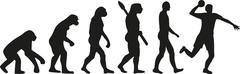 Dodgeball evolution - stock illustration