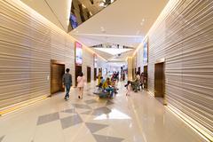 topmost storey of Siam Paragon Shopping mall, Bangkok - stock photo