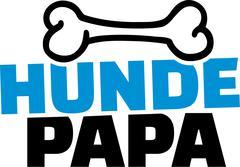 Hunde Papa mit Knochen - stock illustration
