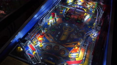 Mario Andretti Pinball game 4k Stock Footage