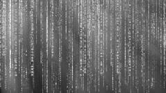 Black and white Matrix background Stock Footage